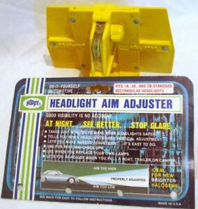 Headlight aiming tool for older vehicles