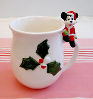 Tasse de Noël vintage Disney Mickey Mouse Japan