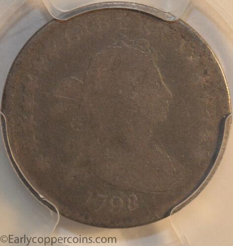 1798/7 JR1 Draped Bust Dime Large Eagle 16 Stars PCGS G6 Overdate R3