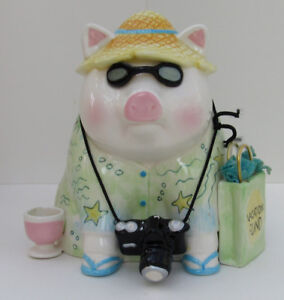 MUD PIE VACATION FUND PIGGY BANK