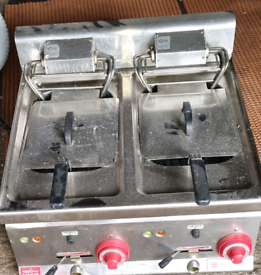 INDUSTRIAL CATERING COUNTER TOP 3 PHASE ELECTRIC FRYER