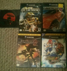 4 GameCube Games: Sonic, Metal Arms, Need for Speed, Namco Museu