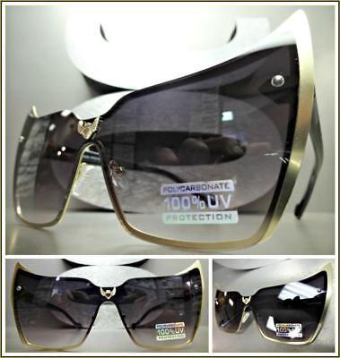 Klassisch Vintage Retro Cat Eye Style Sonnenbrille Gold & Horn Umrandeten Rahmen