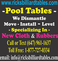 Pool Table Mover 647 961-1637