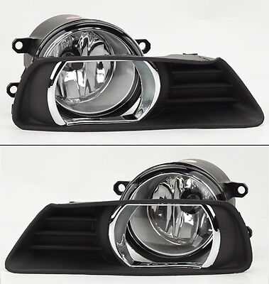 Toyota Camry 07 09 Front Bumper Clear Fog Lights Lamps w Covers  Switch
