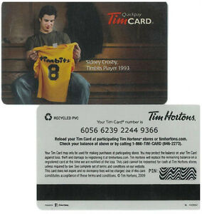 Limited Edition Sidney Crosby Quickpay Tim Card