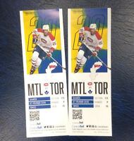 MONTREAL VS TORONTO 27 FEBRUARY 19H00 SECTION RED