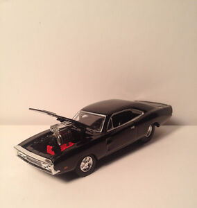 1969 Plymouth Road Runner & (2) 1970 Dodge Charger diecast 1/64