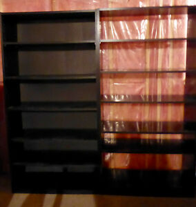 Two Large Ikea Bookcases - Black Color