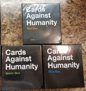 Cards Against Humanity - Expansion Packs - RED, BLUE and GREEN!