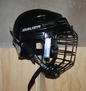 Bauer Hockey Helmet with Cage and Chin Pad - BHH3500M