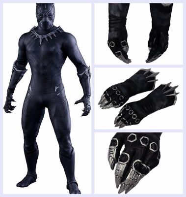 XCOSER Black Panther Claw Gloves Captain America 3 Civil War Movie Costume Props](Panther Gloves)