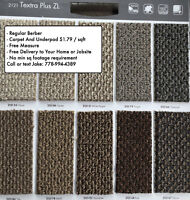 Carpet and Underpad from $1.79/sf - Free Quotes