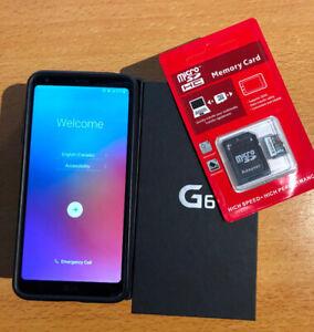 Cellulaire LG-G6 Noir, déverrouillé + carte mémoire 64Gig