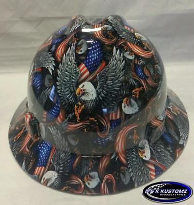 American Eagle Msa V-gard Full Brim Hard Hat Wfastrac
