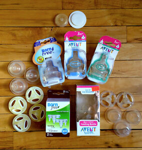 Bottle Nipples & Vents  (Avent, Born Free) All Kinds - NIP!