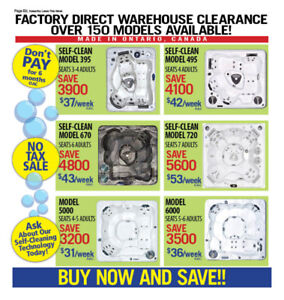 FACTORY DIRECT PRICING-NO TAX SALE! HOT TUBS&SWIMSPAS