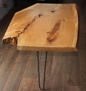 HAND CRAFTED LIVE EDGE HICKORY COFFEE TABLE