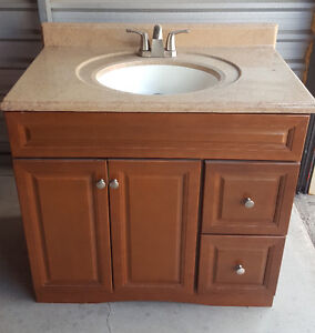 Bathroom Vanity and Countertop with Faucet for sale