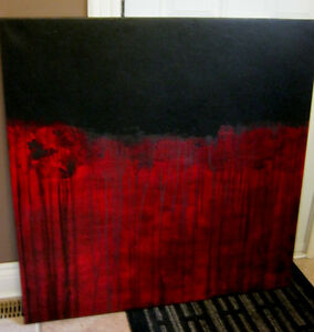 Modern Abstract Canvas painting London Ontario image 1