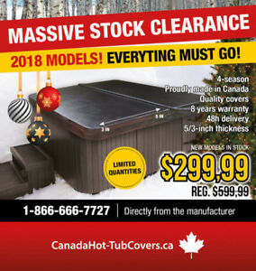 HOT TUB COVERS! Massive Stock Clearance - Everything Must Go!