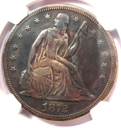 1872-S Seated Liberty Silver Dollar $1 Coin - NGC XF Details (EF) - Rare S Mint!