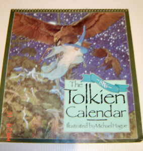 1986 The Tolkien Calendar - Illustrated by Michael Hague - Rare!