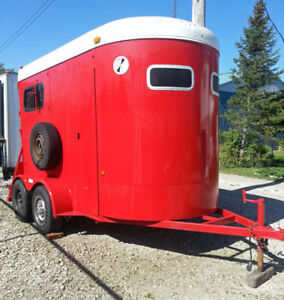 Horse trailers buy or sell other trailers in ontario kijiji mcbride two horse trailer excellent shape new paint sciox Image collections