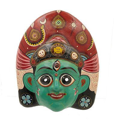 Mask Nepalese Vaisanabi Indra Jatra Festival Nepal Paper Mache Mask 7332