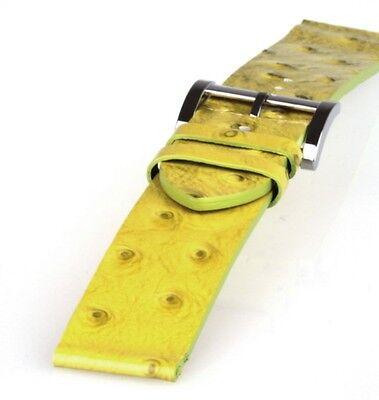 Leder-Uhrarmband gelbgrün von Guess Ersatzuhrband 22 mm Uhrbänder Uhrband
