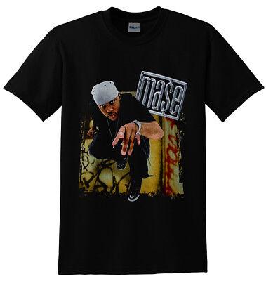 Mase hip hop Vintage Gildan Black T shirt M-2XL