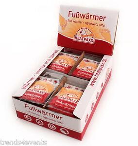 40x Fusswärmer Schuhwärmer Thermopads Zehenwärmer Wärmer Heatpaxx 6 Stunden