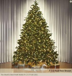 7.5' Pre-Lit Artificial Nobel Christmas Tree