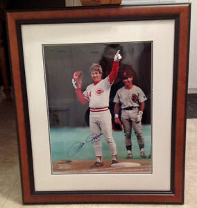 Autographed & Framed PETE ROSE photo w/ Cert. of Authenticity Kitchener / Waterloo Kitchener Area image 1