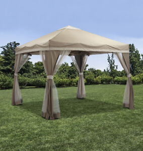 10' Square Pop-Up Portable Canopy, New
