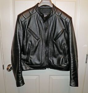 LEATHER MOTORCYCLE JACKET - SIZE 40 (BRAND NEW)