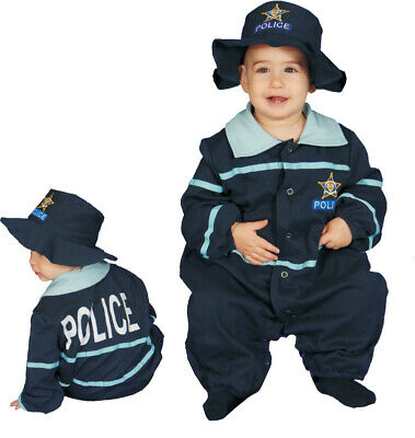 Baby Police Costume (Baby Police Officer Costume Set - Size 12-24)
