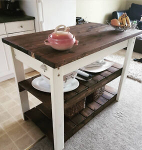 Custom Hand Crafted Rustic Island Counters/Coffee Tables/Shelves