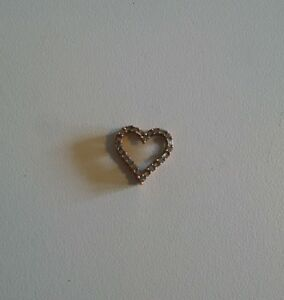 Heart Pendant- Rose gold with Diamonds