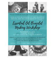 Essential Oil Bracelet Making Workshop