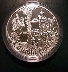 2002 GOLDEN JUBILEE CANADA PROOF SILVER DOLLAR