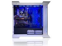 STORMFORCE I7-7700K QUAD CORE GAMING PC, 32GB, 4TB, 512GB, GTX 1080, WIFI, WIN10 ACER MONITOR SPEAKR