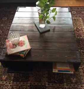 Unique handmade coffee table