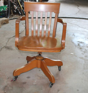 Vintage Oak Office Chair