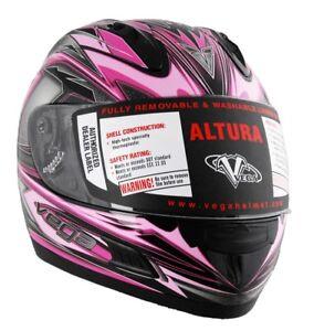 Pink Full Face Motorcycle Helmet