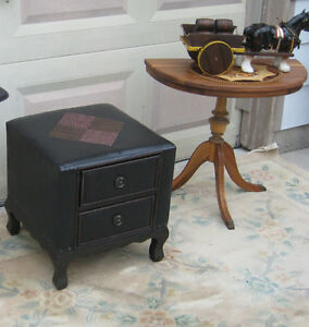 Leather Bench with drawers