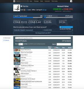 Selling $2000 Steam Account   REDUCED PRICE