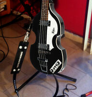 New Hofner Rare Black Violin Bass/Basse Guitar/Guitare