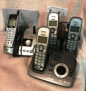 4 Cordless Phones including 2 answering machines.