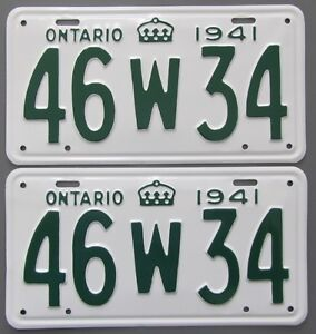 Classic Car YOM License Plates - Ministry Approval Guaranteed